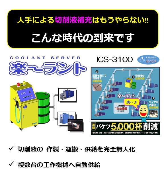 切削液自動供給装置 『楽~ラント』のキャッチコピー